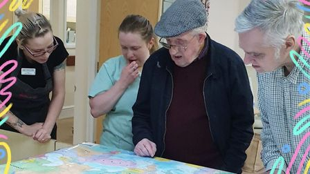 Soham Lodge Care Home residents enjoyed reading postcards from around the world. These postcards are