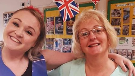 Residents and staff members at Soham Lodge Care Home celebrating the Queen's birthday. Picture: SOHA