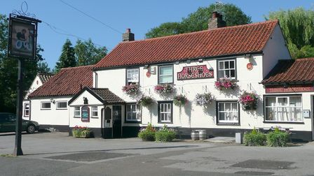 The Three Horseshoes pub in Comberton, the only pub in the village, which is at risk of shutting dow