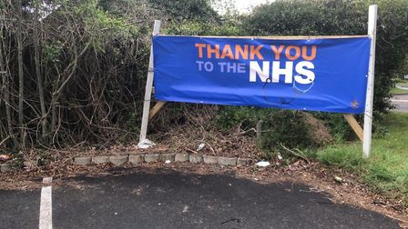 Jalsa Ghar restaurant sent us this photo of their banner in support of the NHS.