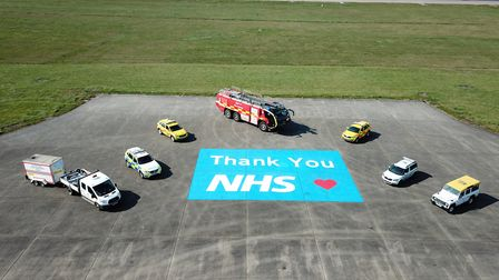 Stansted Airport thanks NHS workers. Photo: Stansted Airport.