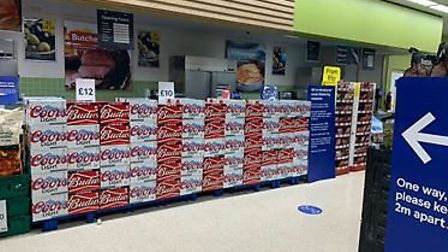 Tesco in Great Dunmow spelled out a message in support of the NHS. Picture: Martin Paine