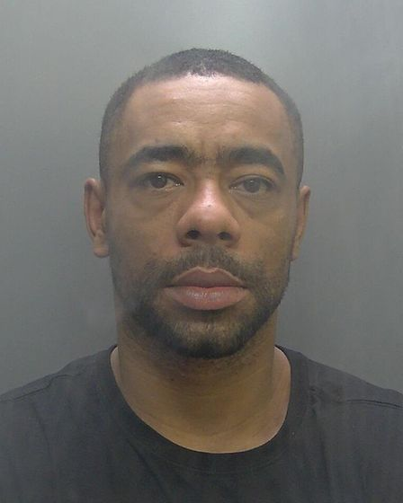 Marcus Kazeem (pictured) strangled his girlfriend and smashed her head against a cabinet before sayi