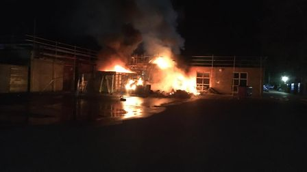 a fire at Impington Village College, Cambridgeshire, on Sunday night is thought to have been deibera