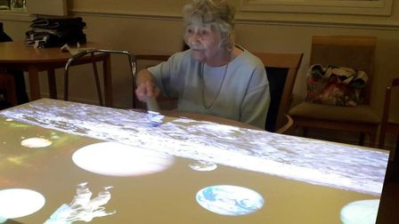 Residents at Askham House in Doddington were surprised by staff after receiving an interactive proje