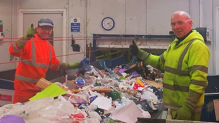 Recycling and waste workers have been dealing with an additional 100 tonnes of glass and 30 tonnes o