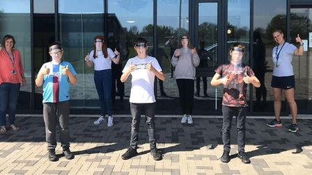 Students and staff at Littleport and East Cambridgeshire Academy hand-crafted more than 300 PPE viso