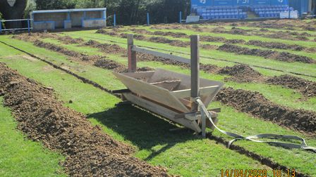 Takeley Football Club have been working on drainage at their Station Road ground since the 2019/20 s