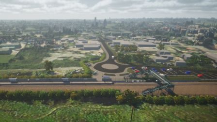 A visualisation of what could potentially become Soham station. Picture: NETWORK RAIL