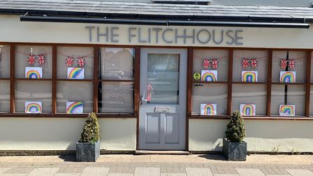 Great Dunmow traders celebrate VE Day with colourful window displays. Picture: Rachael Clark, Great