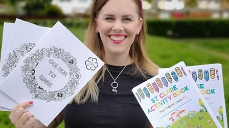 Community and Events Fundraising Manager Dani, with both books, now available to purchase online. Pi