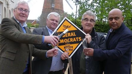 L-R: Cllrs Alan Dean, Geoffrey Sell, Melvin Caton, Ayub Khan. Picture: CONTRIBUTED