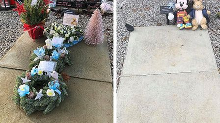 The family of baby Elijah James Chambers would like to add decorations on his grave to commemorate h