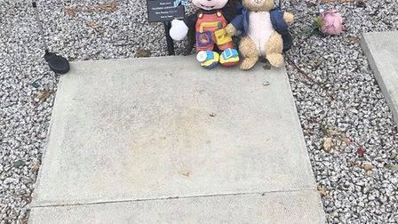The family of Elijah James Chambers now have to leave their baby's grave bare following issues at Ea