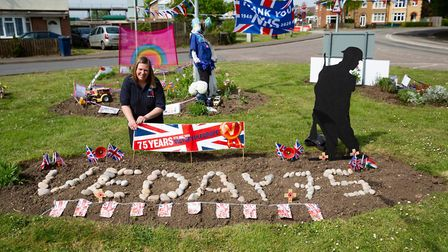 Residents of Chatteris get ready to Celebrate VE Day. Local youth officer for Chatteris British Legi