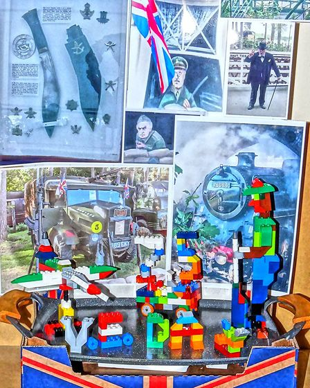 Paul Davis created and designed his own Lego displays to resemble certain aspects for VE Day as well