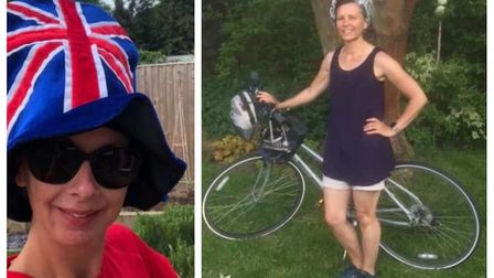 Members of Three Counties Running Club took part in a VE Day challenge where they ran and cycled wea