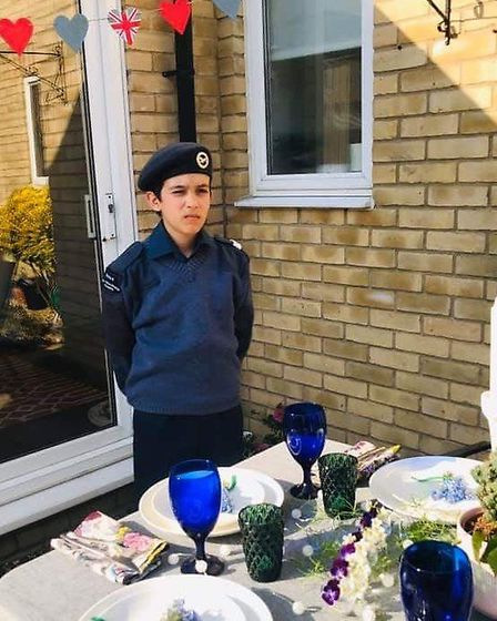 Cadets and staff of the 1094 Ely Squadron Royal Air Force Air Cadets decorated their houses, baked c