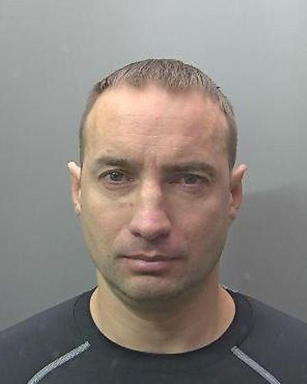 Valdas Raudis (pictured) has been jailed for production of cannabis and the theft of 10 cars worth m