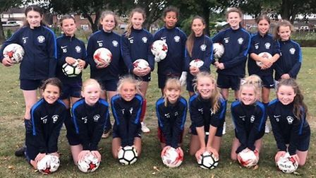 The Haddenham Rovers Under 12 Girls team covered over 200 miles between the village and Wembley Stad