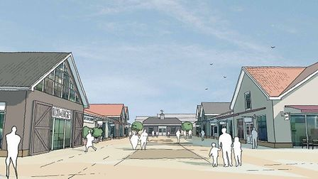 """An artists impression of the proposed """"high quality"""" food, business and retail destination at Harloc"""