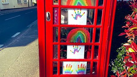 The rainbow phone box in High Roding. Picture: Heidi Shubrook