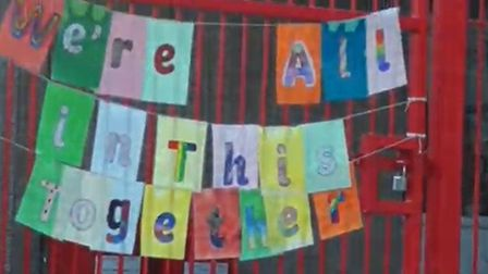 The banner at Rayne Primary