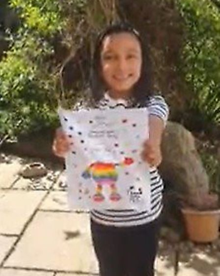 Rainbows shared by Rayne Primary year one in their video