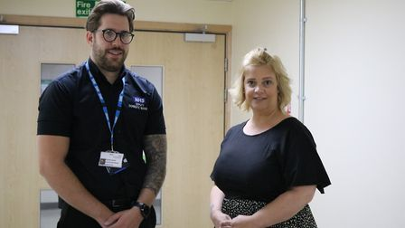 Steven Cooper and Donna Martin run the domestic cleaning service at the Queen Elizabeth Hospital in