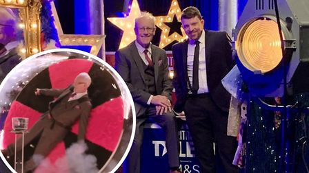 Cambridgeshire father and son duo Philip and Jeremy Bond took their knife throwing magic show to the