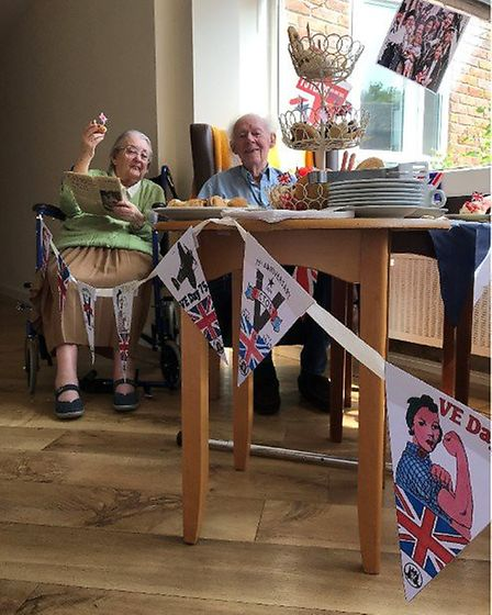 Having fun on VE Day. Picture: Humfrey Lodge