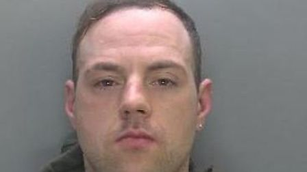 Steven Barnes aged 32, jailed for carrying a knife in Littleport and for assaulting three police off