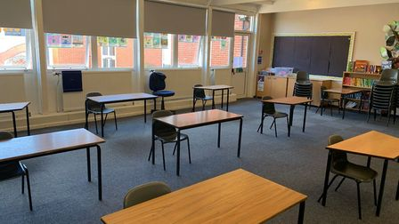 Leverington Primary Academy has shared photos of its socially distanced classroom set up as the scho