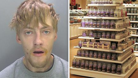 Liam Marshall (left) who stole hundreds of pounds worth of Yankee Candles amongst other items has be