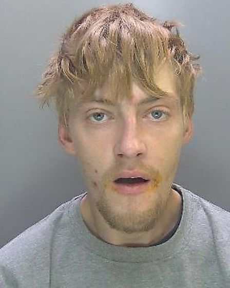 Liam Marshall has been jailed and banned from shops. Picture: Cambs Cops