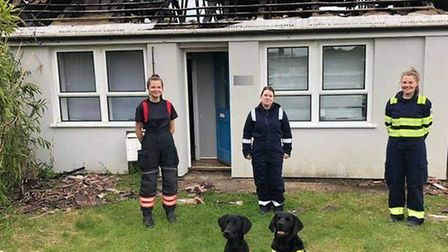 Firefighters concluded a blaze in a row of bungalows at Soham on Saturday was deliberate. They came