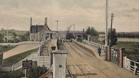 One of the earliest photographs of the railway station at Littleport.