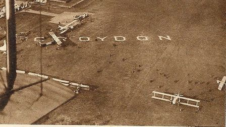 Croydon airport in the 1920s from where a Chatteris woman left in a Fokker monoplane belonging to th