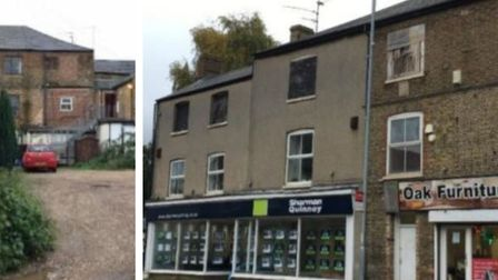 72-74 High Street March could be demolished and replaced with ground floor shops and 19 flats in a t