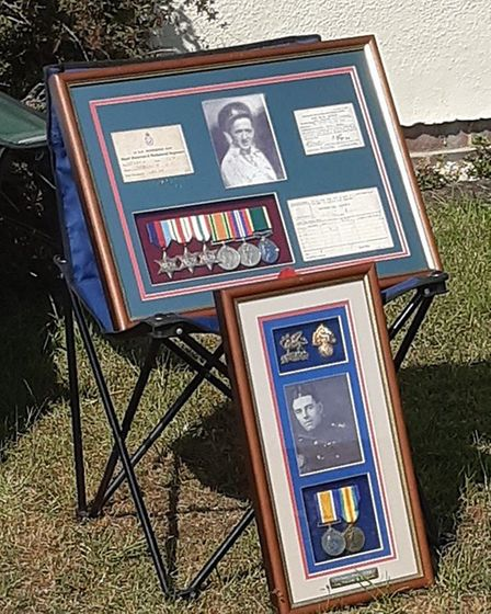 VE anniversary celebration in Takely included a vintage car, a display of photographs and medals and