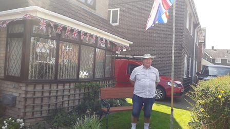 The flags were out in Rayne and a figure of Captain Tom was created, the veteran in the Cotswolds wh