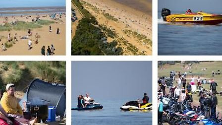 We take a day trip to Hunstanton on a delightfully hot and sunny Bank Holiday. And where social dist