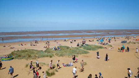 Bank holiday at Hunstanton ,Beach, HunstantonMonday 25 May 2020. Picture by Terry Harris.