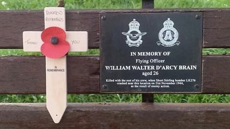 A cross was placed on five of the memorial benches (two are in the school grounds), each commemorati