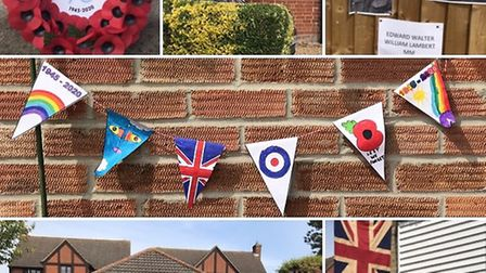 Great Dunmow and surrounding villages were decked out with flags, bunting and photos of family membe