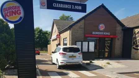 Burger King in Ely has opened its drive thru and is offering customers a limited menu. Image: Suppli