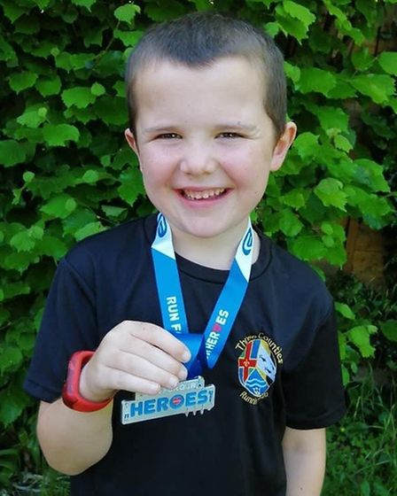 Isaac Western took part in a 1.5k charity run as other Three Counties members had to run or walk a l