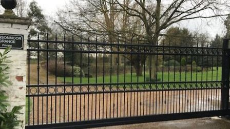 Impressive gates to an impressive home in Grange Road, March. But this picture doesn't tell the whol