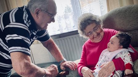 George Gilbert, 86, and his wife Domneva, 84, from Ely managed to win their battle with coronavirus