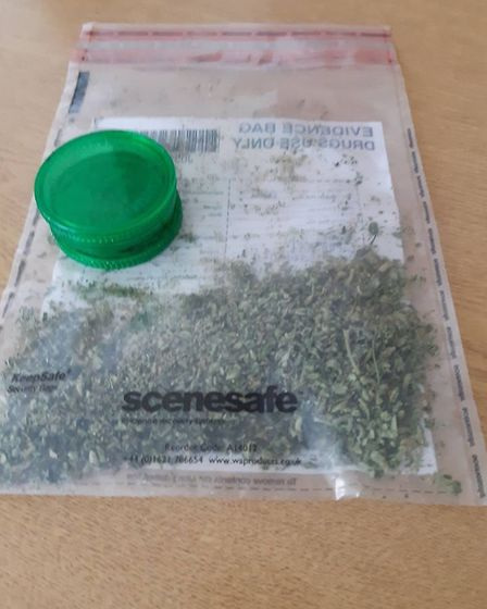 Drugs seized by police during the lockdown. Image: Fenland Police